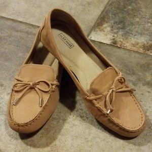 Alex Marie tan loafers